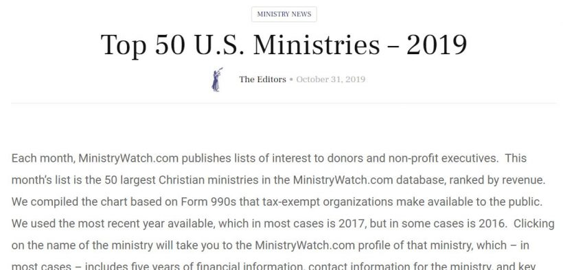 Top 50 Ministries